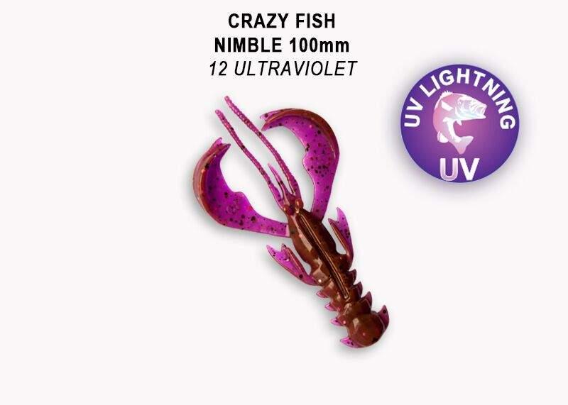 Nimble 10 cm 12 ultraviolet balení 5 kusů