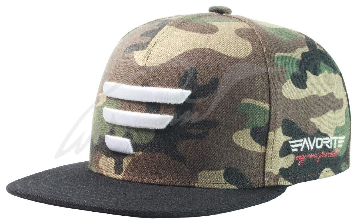Čepice Favorite A Frame camo, bílé logo, černý kšilt