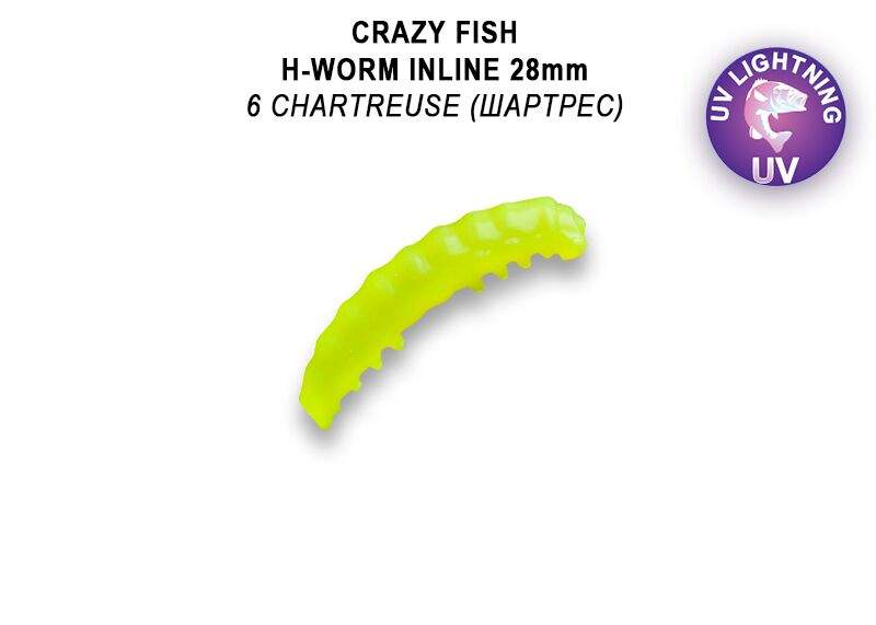 """MF H worm Inline 1,1"""" 2,8 cm barva  6 sýr, floating"""