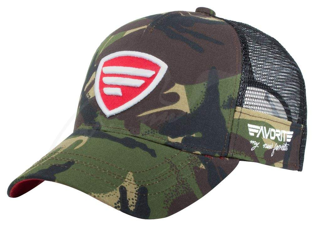 Čepice Favorite trucker red logo camo