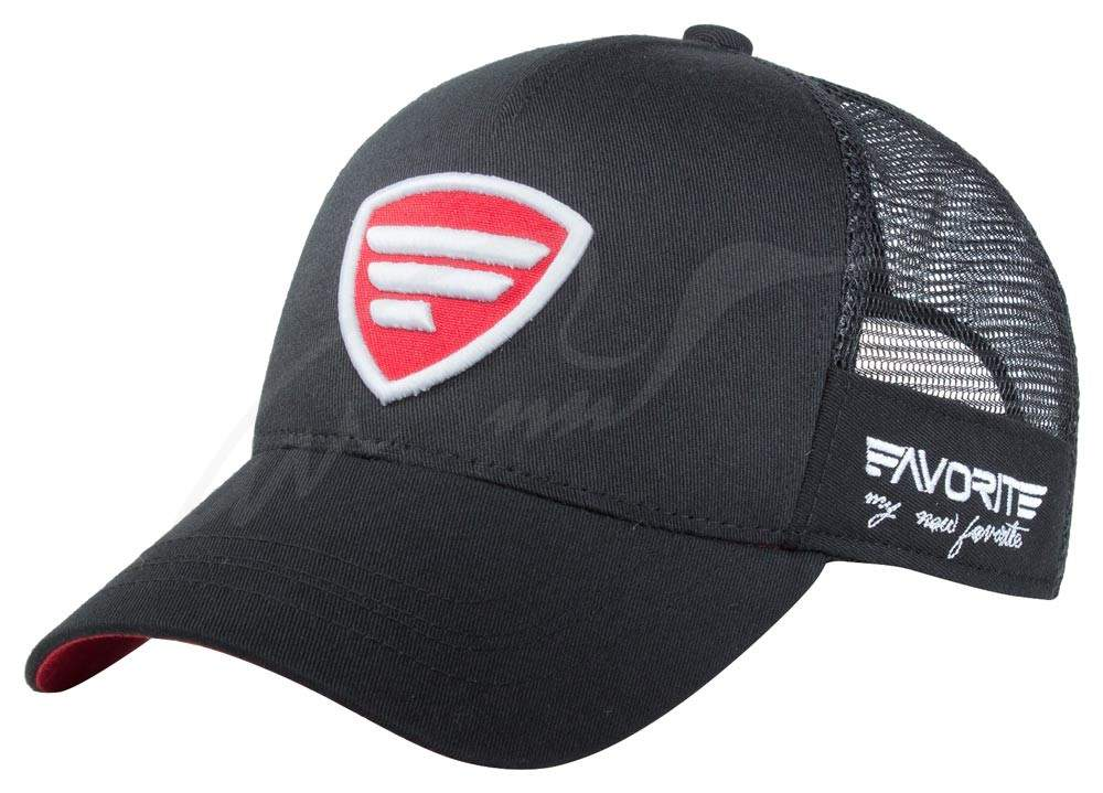 Čepice Favorite trucker red logo black