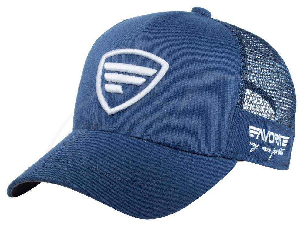 Čepice Favorite trucker white logo blue