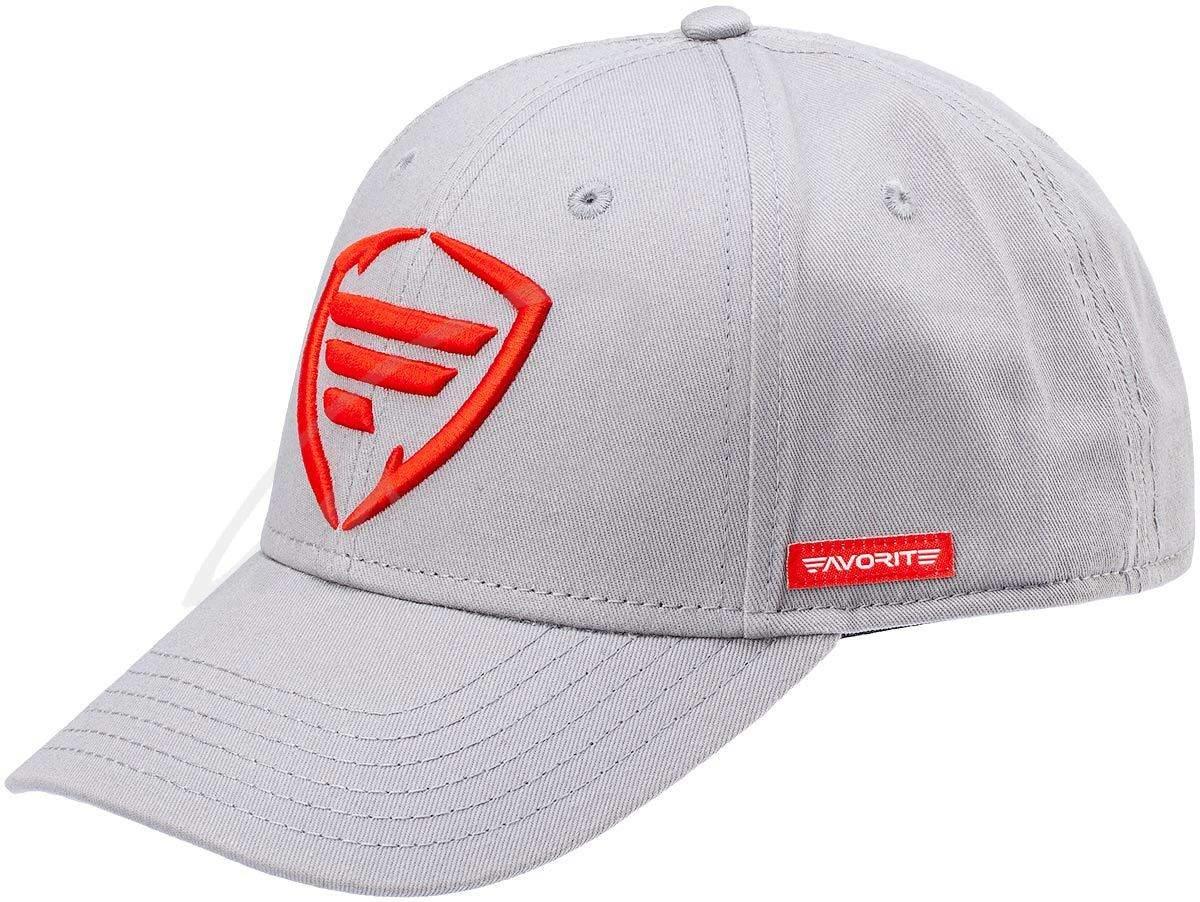 Čepice Favorite Grey, red logo 58