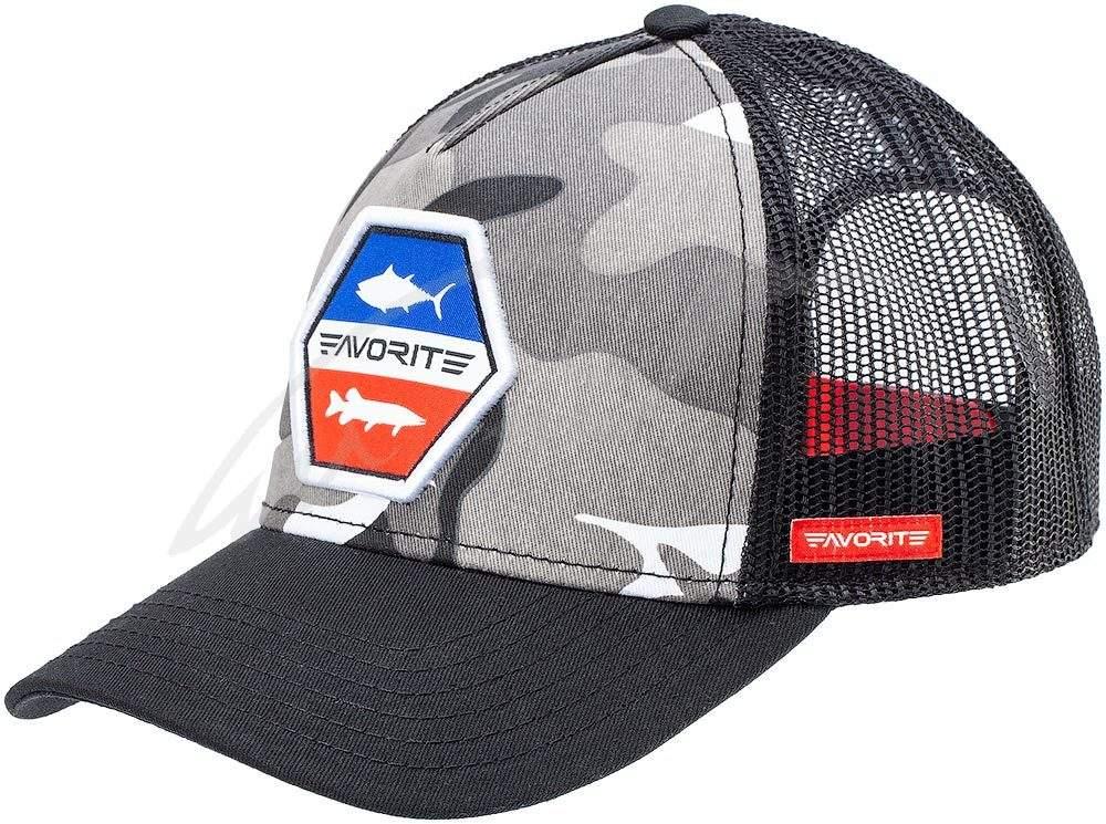 Čepice Favorite Grey, camo red/blue logo 58