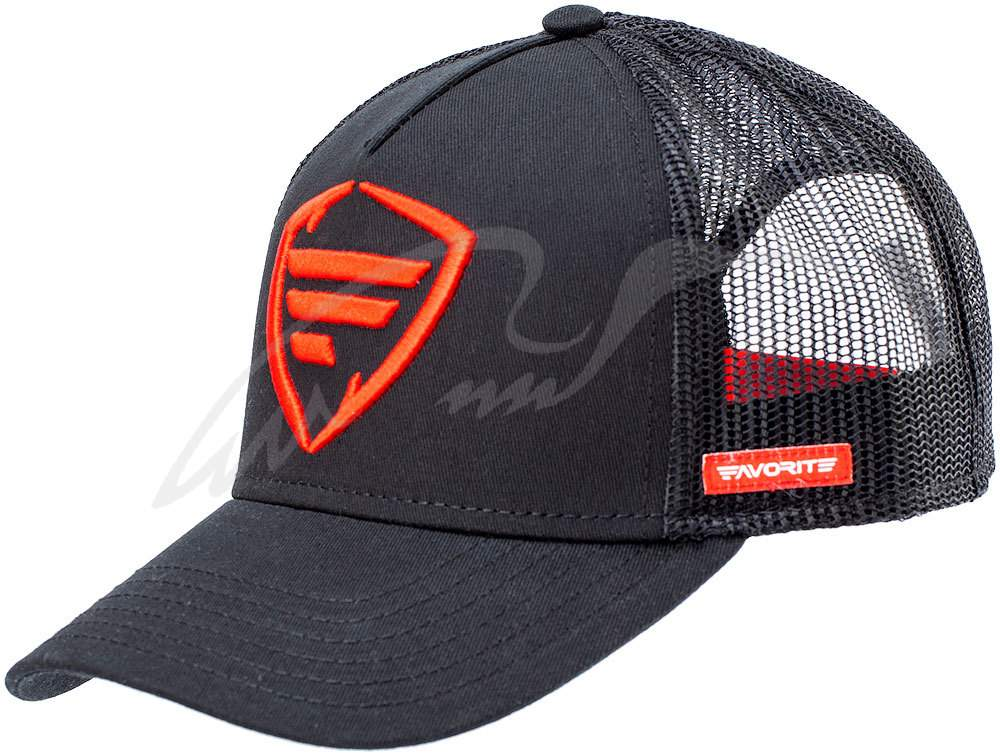Čepice Favorite Black, red logo 60