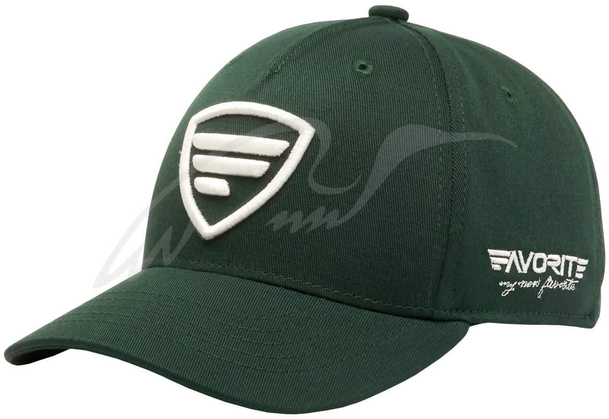 Čepice Favorite white- logo, dark green