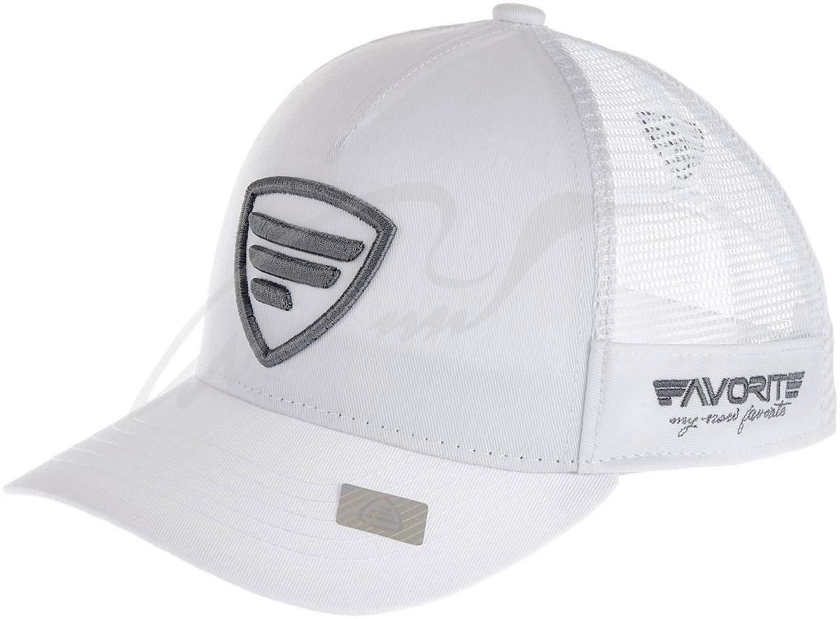 Čepice Favorite grey- logo, white