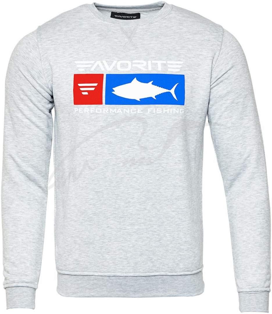 Mikina šedá Favorite tuňák velikost M
