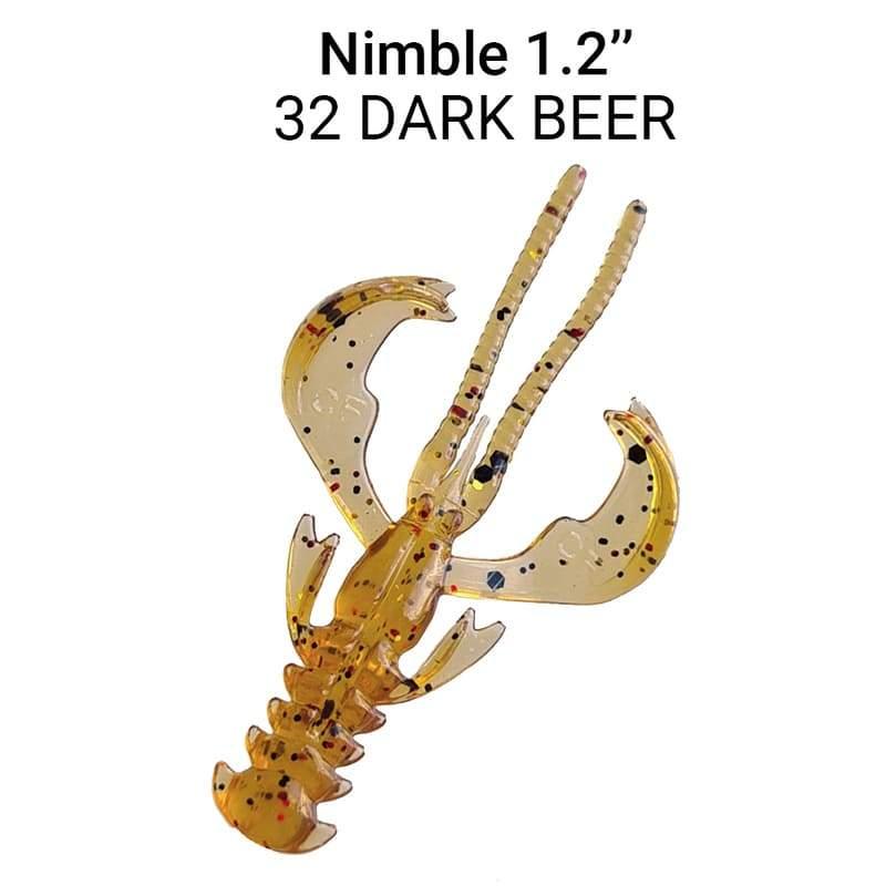 Nimble 3cm barva 32 Dark Beer 16 ks