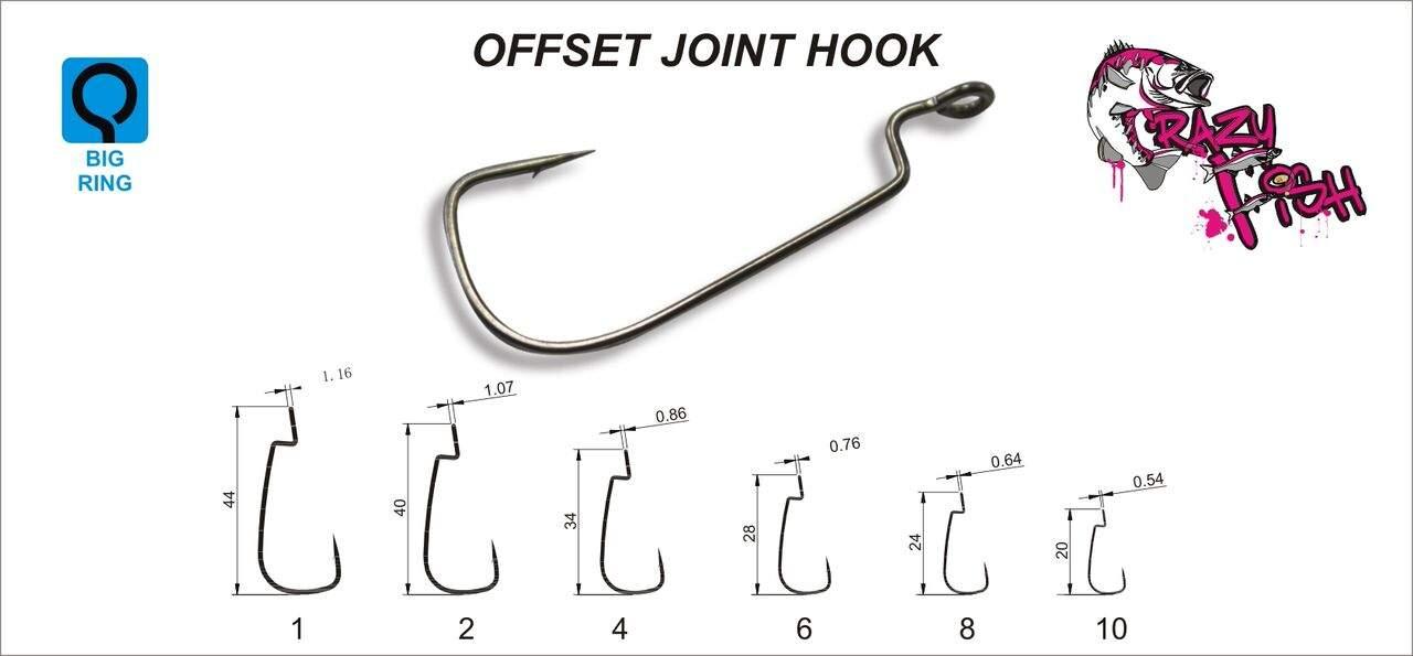 Háček Offset Joint Hook vel. 1, balení 10ks