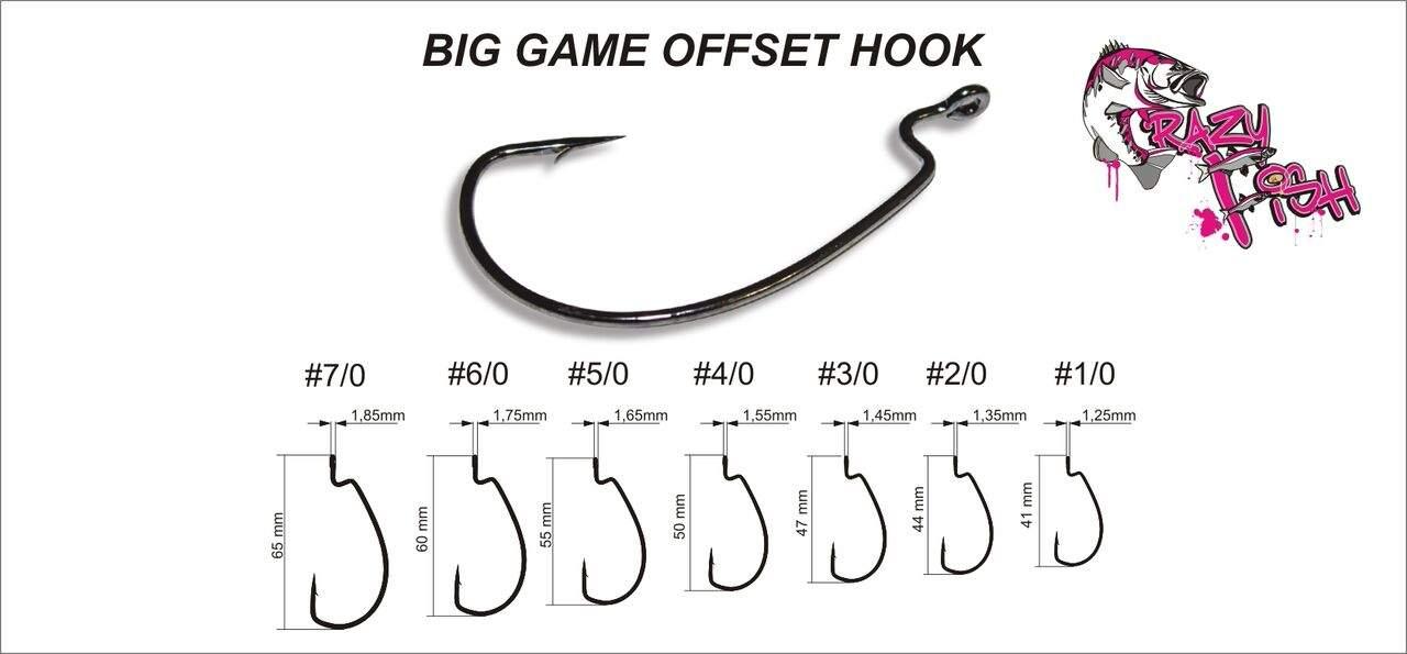 BIG GAME OFFSET HOOK vel. 1/0, balení 8ks