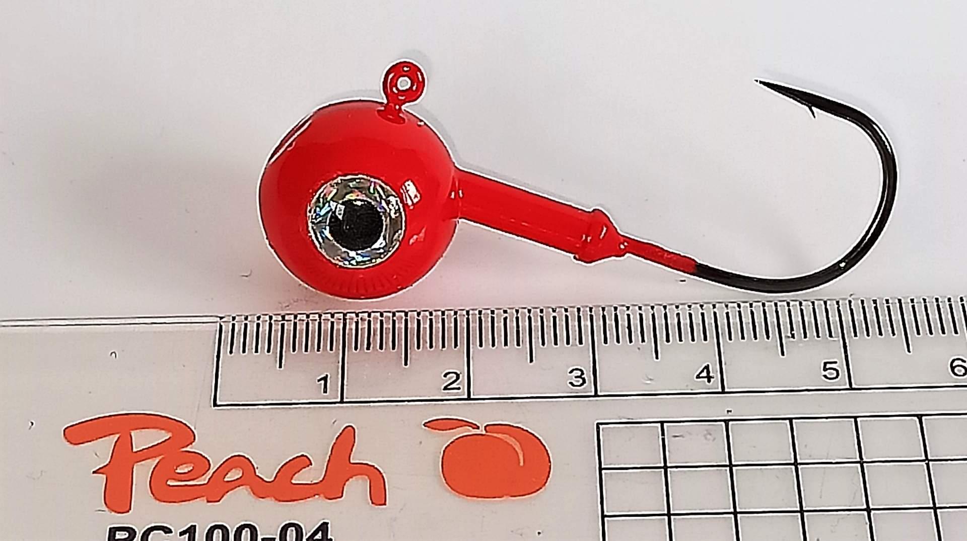 Vanfook jig 25g háček velikost 4/0 s nálitkem red plus oko