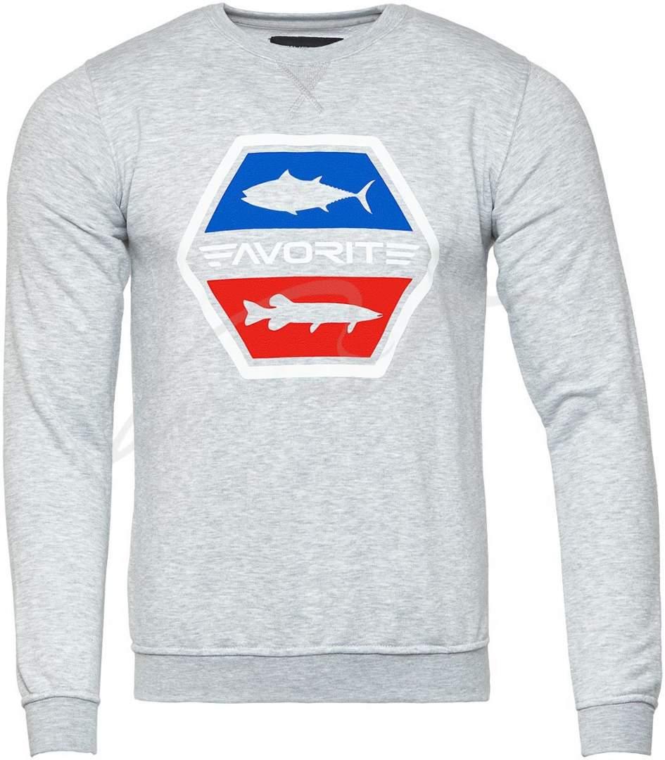 Mikina Favorite štika tuňák šedá, velikost XL