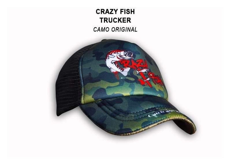 Čepice Crazy Fish original camo