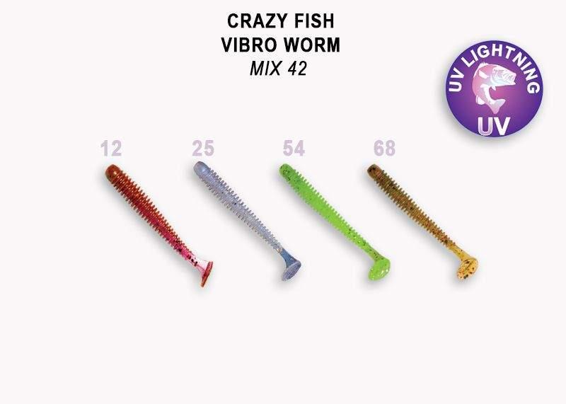 Vibro Worm 5 cm color mix 42